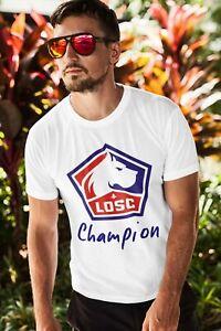 Tee-shirt Lille Losc champion de France Football club
