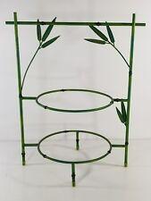 Tier Plate Cupcake/Pie Stand Wrought Iron Metal Rack Buffet Display Green Bamboo