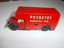 BRIMTOY -POCKETOY - Removal van - tôle imprimée - bon état - mécanique Ok