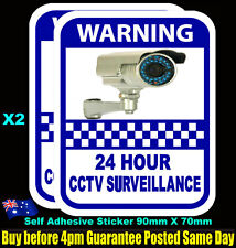Security Camera Surveillance Warning CCTV Stickers, Alarm home office 7 Year