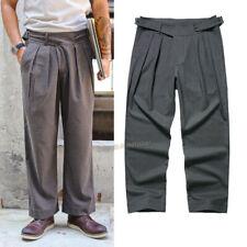 Men's Gurkha Pants Wool Pants Fleece Trousers Suit Pants Vintage Casual Pants