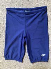 New listing Speedo Boy's Swim suit Jammer Racing Training Navy Blue Sz 10 Excellent