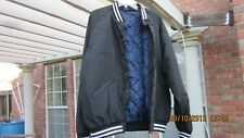 New men's BLACK baseball jacket quilted winter fall XL