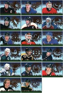 1999-00 PARAMOUNT ICE ALLIANCE HOCKEY INSERT CARDS - PICK SINGLES - FINISH SET