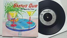 "STATUS QUO - Marguerita Time / Resurrection 1983 AOR Hard Rock UK 7"" Vertigo"