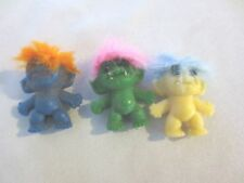 3 Vintage Gumball Machine Toy Monster? Trolls Feather hair