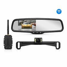 Auto-Vox Wireless Backup Camera Kit 4.3'' LCD Mirror Monitor + Reversing Camera