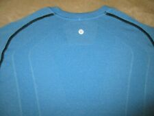 Mens - Lululemon - T Shirt Metal Vent Light Aqua Blue Xl Short Sleeve