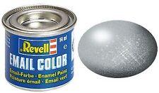 REV32190 - Pot de peinture émail de 14ml couleur argent métal -  -