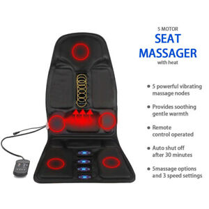 Car Seat Cushion  Back Massager Heated Remote Control Massage Chair Home Van