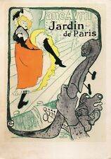 Postcard Poster for the Jardin de Paris Jane Avril (1200)