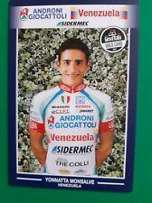 CYCLISME carte cycliste YONNATTA MONSALVE équipe ANDRONI GIOCATTOLI Venezuela