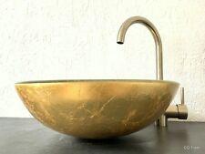 WASCHBECKEN GOLD GLAS GLASWASCHBECKEN AUFSATZWASCHBECKEN OHNE WASCHTISCH