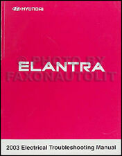 2003 Hyundai Elantra Electrical Troubleshooting Manual Wiring Diagram GLS GT