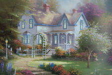 "Thomas Kinkade ""HOME IS WHERE THE HEART IS"" lithograph, P/P Edn. 20""x24""  COA"