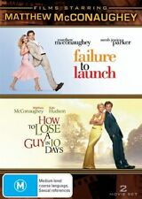2 disc, FAILURE TO LAUNCH / HOW TO LOSE A GUY IN 10 DAYS. LIKE NEW, R4