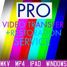 VHS and Video tape Transfer to Digital. MP4 iPAD MP4 WMV  Restoration Service