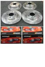 ROVER MG ZS ZR 1.6 1.8 2.0 DRILLED GROOVED BRAKE DISC MINTEX BRAKE PADS