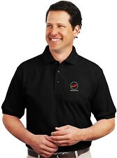 Pockocmoc Logo Embroidered Black Polo Sport Shirt S-5XL russian space agency