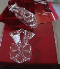 WATERFORD $50 Crystal 2010 Lismore Toasting Flutes Ornament Made in Germany NIB