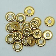10mm Washer Rings Metalized Large Hole Beads Bright Gold Finish pk/20