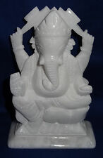 Marble Religious Lord Ganesh Statue Handmade Sculpture Idol Decor Art Home Gifts