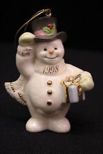 "Mint Annual 1998 Lenox Frosty Morning Christmas Holiday Snowman 4"" Ornament"