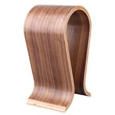 EG_ U Shape Wood Headset Headphone Earphone Holder Display Stand Hanger Rack Hea
