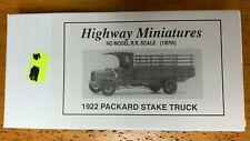 JORDAN HIGHWAY MINIATURES HO SCALE 1/87 PACKARD TRUCK KIT