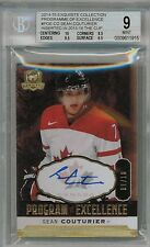 14/15 UD The Cup Sean Couturier Program of Excellence POE Auto #'ed 01/10 BGS 9