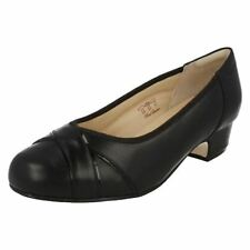 Patent Leather Upper Wide (E) Block Heels for Women