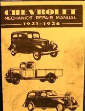 1931-1936  Chevrolet  Mechanics  Repair Manual For  Chevrolet  Motor Cars    FSH
