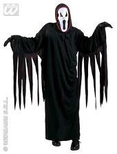 HALLOWEEN CARNEVALE COSTUME SCREAMING GHOST FANTASMA NERO BAMBINO 11/13 ANN
