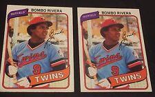 BOMBO RIVERA 1980 Topps  ERROR Red DOT Position Variation OddBaLL #43 RARE SP