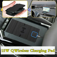 15W Fast Qi Wireless Charger Charging Pad Phone Holder Stand Car Dashboard Mount