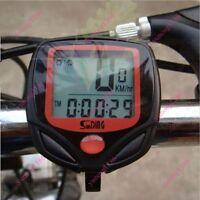Bicycle Bike Cycling Computer LCD Odometer Speedometer Stopwatch Speed meter au