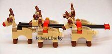 LEGO 5 Reindeer add-on for set 10245 Santa's sleigh Workshop Rudolf Christmas