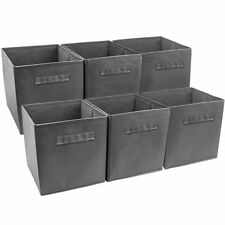 Collapsible Storage Bin, Grey (Pack of 6)
