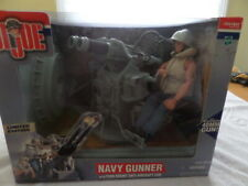 New Hasbro G.I. Joe Navy Gunner with Twin Mount Anti- Gun and Action Figure