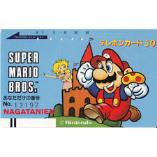 SUPER MARIO BROS. MARIO&PEACH JAPAN TELEFONKARTE / PHONE CARD RARE LIMITED#13192