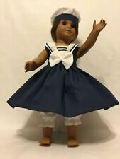 Sailor Dress  handmade doll clothes to fit American girl dolls