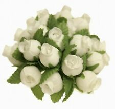 144 Miniature Poly Rose Silk Favor Flower Pick Wedding Shower - Ivory