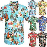 Mens Floral Short Sleeve T Shirt Summer Casual Holiday Beach Hawaiian Shirts Top