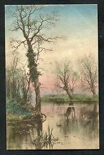 C1910 Art Card: Birds & River Bank