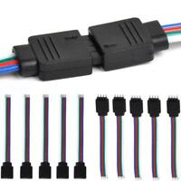 10Pcs 4Pin Male + Female Connector Cable Wire for 3528 5050 SMD LED Strip Light