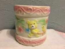 Vintage Nancy Pew Giftwares Drum Baby Planter