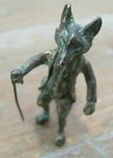 Gorgeous Miniature Bronze Of Mr Tod The Fox After Franz Bergman