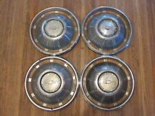 "VINTAGE 1969 69 CHEVROLET CHEVY IMPALA 14"" INCH HUBCAP WHEELCOVER SET 4 X3-1903"