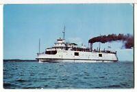 1950 - THE CITY OF CHEBOYGAN Mackinac Straits Ferry, St. Ignace MI Ship Postcard