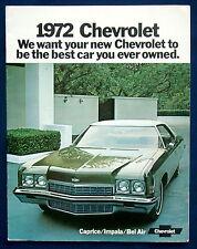 Prospekt brochure 1972 Chevrolet Chevy Caprice  Impala  Bel Air  (USA)
